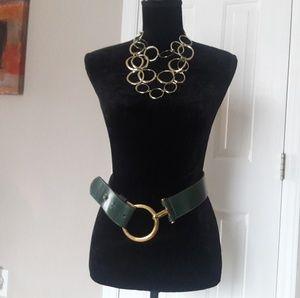 Vintage/ Catherine Dial Easley/ Leather Belt